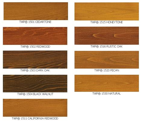 twp wood stain sles colors 1500 series and 100 series twpstain