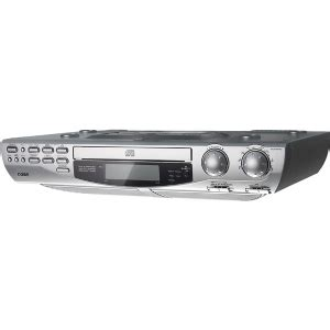 under radio cd player with light coby kcd150 under cd player with am fm radio at