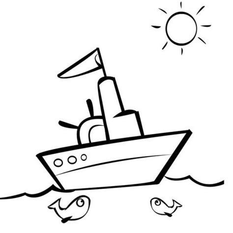 dibujo barco imprimir desenho de um pequeno barco para pintar