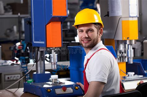 factory worker during work stock photo image of building