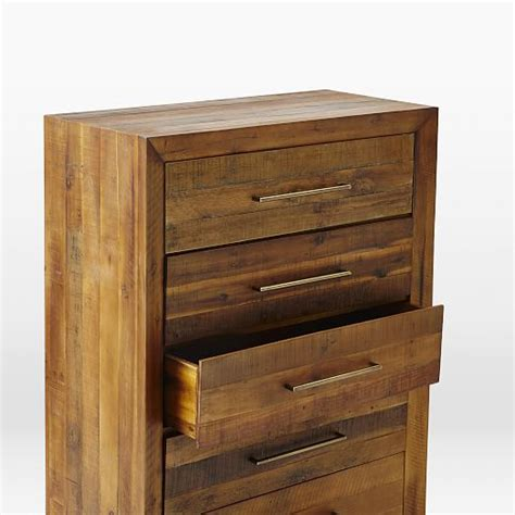 Reclaimed Wood Dressers For Sale by Reclaimed Wood 5 Drawer Dresser West Elm