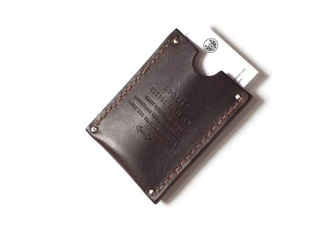 how to make a leather card holder apolis leather card holder silodrome