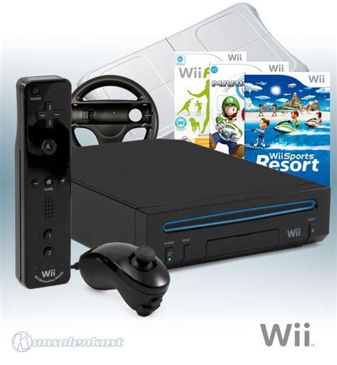 wii original console wii console rvl 001 black 3 orig mote plus