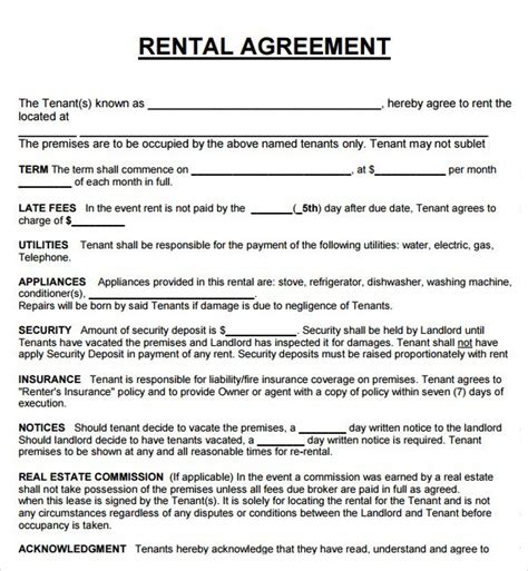 office tenancy agreement template rental agreement templates word excel pdf get calendar