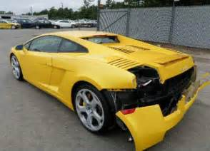 Damaged Lamborghini Gallardo For Sale Lamborghini Murcielago For Sale