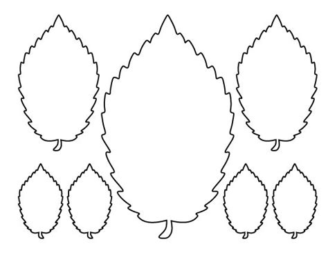 leaf pattern recognition elm leaf pattern use the printable outline for crafts