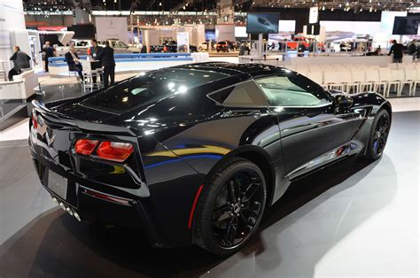 this is the black widows corvette stingray from captain pics black widow s corvette stingray at the chicago auto