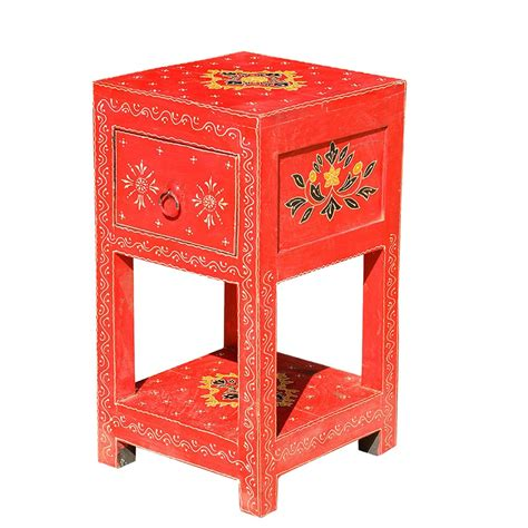 Bed End Table by Distressed Painted Bed Side End Table Nightstand