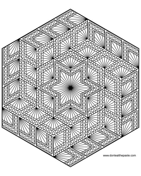 cool intricate coloring pages don t eat the paste diamond hexagon mandala to color