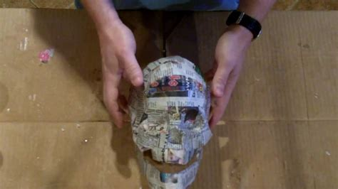 How To Make Paper Mache Without Newspaper - paper mache skull