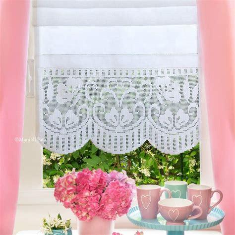 schemi per tende ad uncinetto lino schema e cotone per fare tenda con bordo ad