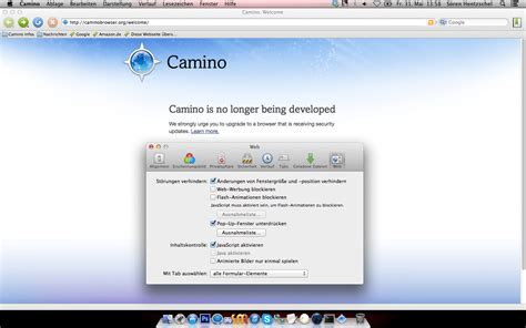 camino mozilla camino projekt gibt offiziell einstellung des mac browsers