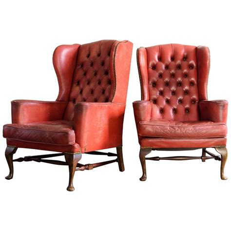 red leather armchairs sale red leather wingback armchairs at 1stdibs