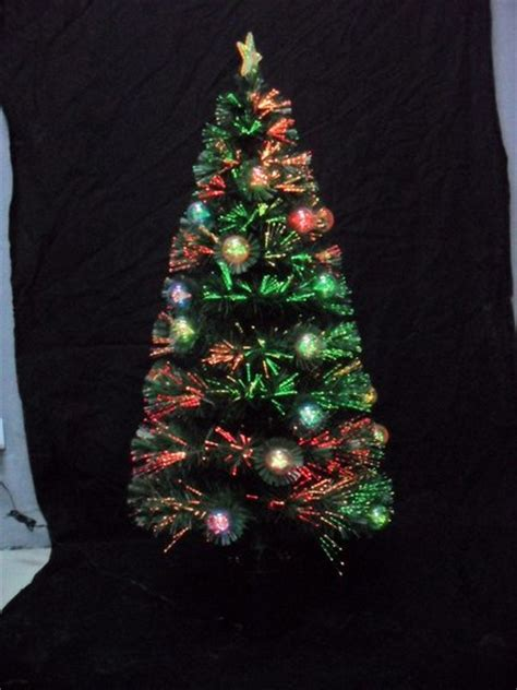 24 quot fiber optic christmas tree with balls revolving