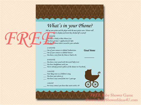 printable bridal shower cell phone game free what s in your phone phone game what s in your cell