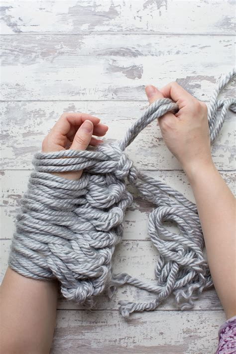 knitting how to turn diy arm knit cushion cover