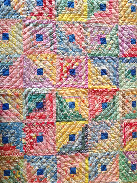 That Quilts by Log Cabin Quilt Vintage Quilt Sunday