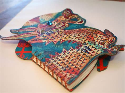 Handmade Book Designs - stencilgirl stenciled and shaped books gwen
