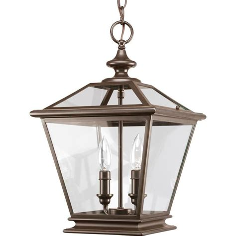 Progress Lighting Crestwood Collection Antique Bronze 2 Entryway Pendant Lighting