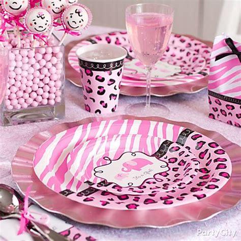 Safitri Pink leopard print baby shower decorations best baby decoration