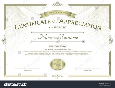 Appreciation Templates by Certificate Of Appreciation Template With Photo Images
