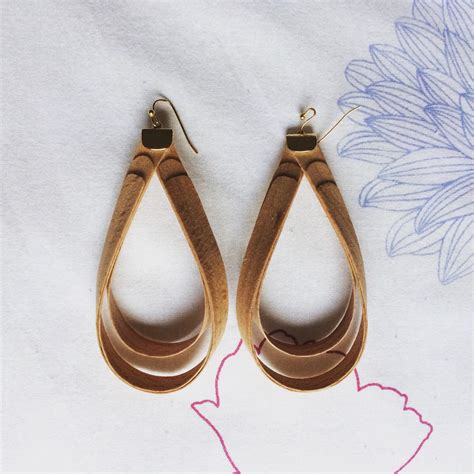 Handmade Wooden Earrings - handmade earrings wooden jewelry by