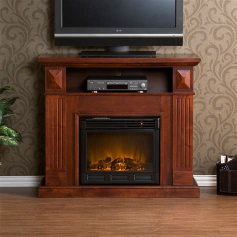 cherry tv stand media center electric fireplace fa9311e ebay
