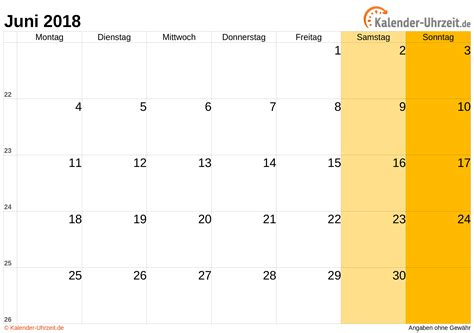 Iran Kalendar 2018 Juni 2018 Kalender Mit Feiertagen