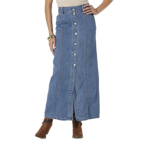 smith s denim maxi skirt