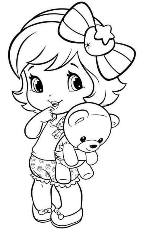 coloring page of little girl little girl coloring pages 62 best fresita images on