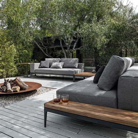 feuerschale outdoor grid centre unit garden sofas from gloster furniture