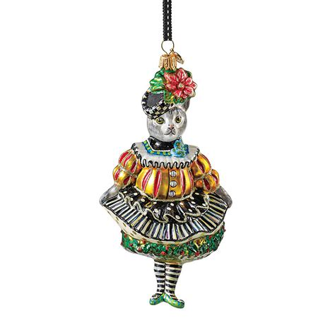 mackenzie childs miss kitty kat christmas ornament gump s