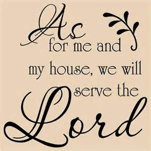Scripture Stickers For Walls as for me and my house we will serve the lord by