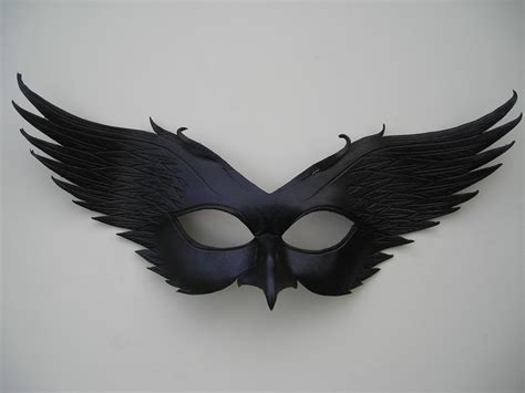 leather mask leather mask original handcrafted leather by wingandtalon