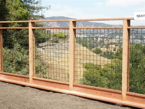 Handrail Netting Wood And Wire Fence Design Fences