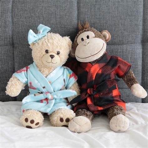 shirt pattern for stuffed animal stuffed animal teddy bear robe free sewing pattern
