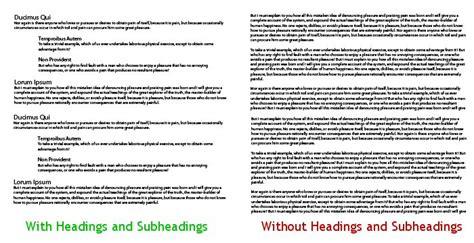 Memo Format Headings Subheadings 16 copywriting tips for scannable marketing materials