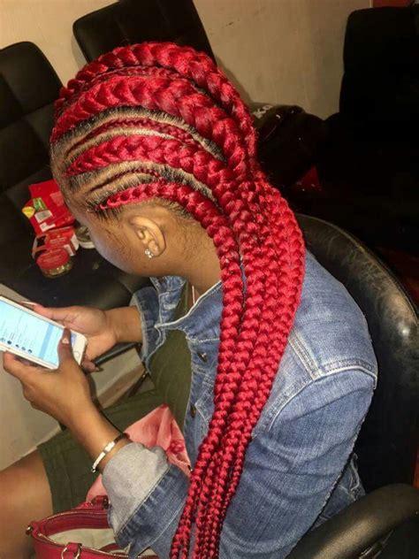 red cornrow braided hair 1000 ideas about blue box braids on pinterest box