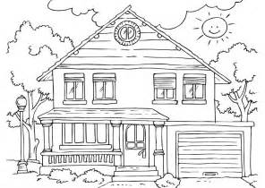 Free Printable House Coloring Pages For Kids sketch template