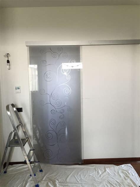 porta in cristallo scorrevole porte vetro scorrevoli battente raso muro offerta