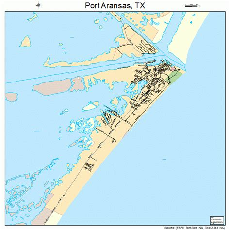 port texas map port aransas texas map 4858808