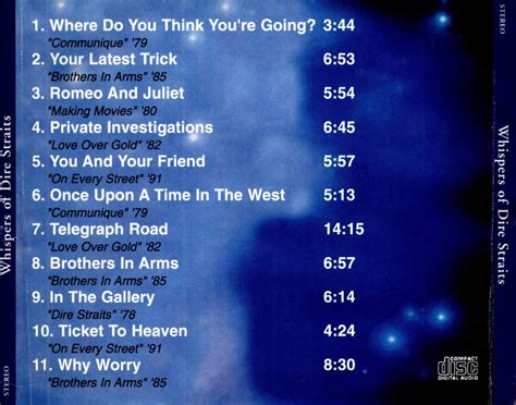 the best of the whispers car 225 tula trasera de dire straits whispers of dire