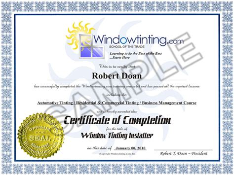 vocational vocational certificate sample