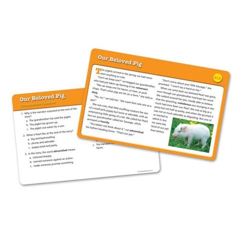 reading comprehension on new year reading comprehension cards year 6 from early years