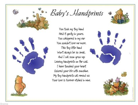 baby s s day poem 31 best images about handprint and footprint poems on