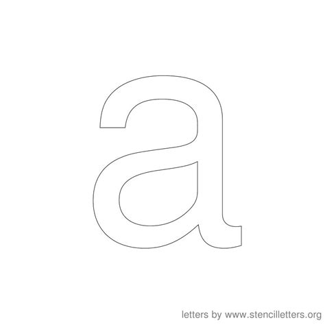 printable lowercase stencils image gallery lowercase a