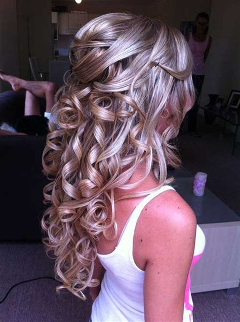 Half Up Half Prom Hairstyles by Curly Half Up Prom Hairstyles For Hair