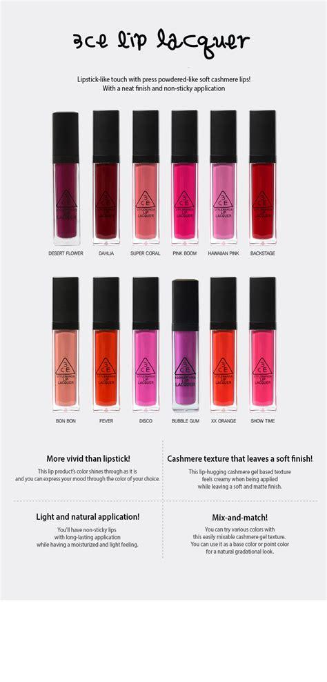 3ce Lip Tint Lip Tint Lipstick 3ce 3 concept lip lacquer lipstick lip tint 10g stylenanda korea new ebay
