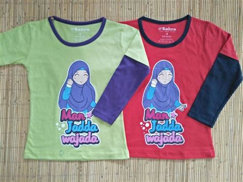 Kaos Anak Karakter Om Telolet Om 34 kaos anak muslim zahra jadda wajada cewek grosir baju anak branded baju anak muslim