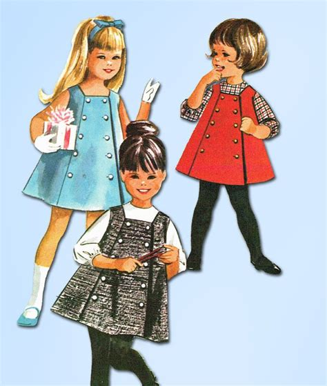 sewing pattern a line jumper 1960s vintage mccalls sewing pattern 6937 toddler girls a